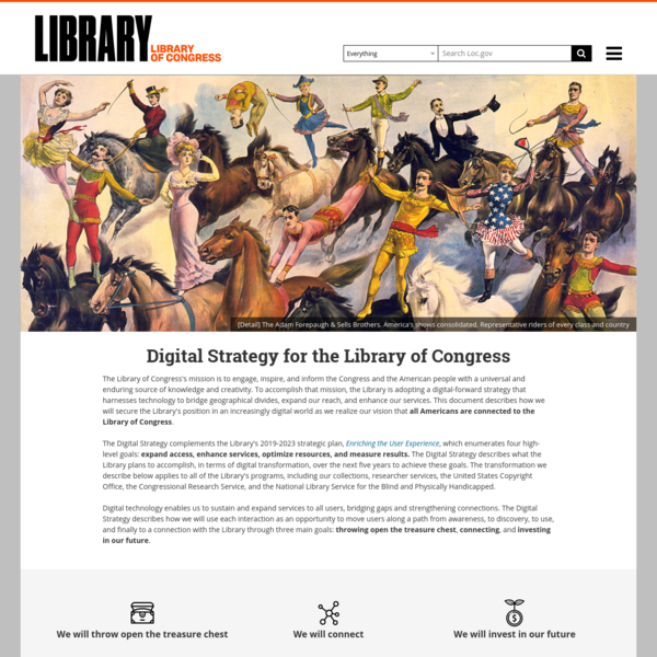 Digital Strategy | Library of Congress