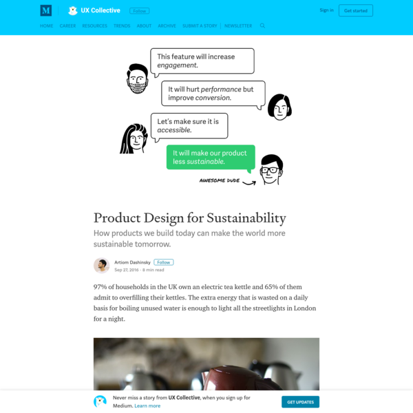 Product Design for Sustainability - UX Collective