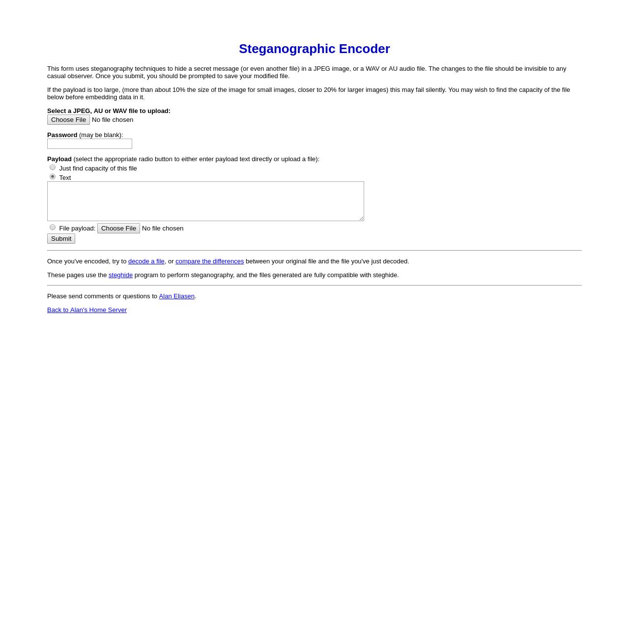 Are na / Steganographic Encoder