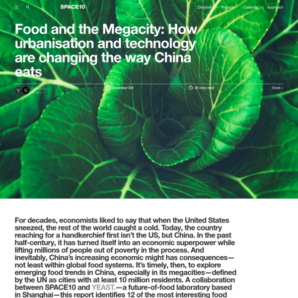 Food and the Megacity: How urbanisation and technology are changing the way China eats - SPACE10