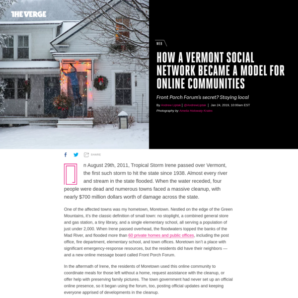 How a Vermont social network became a model for online communities