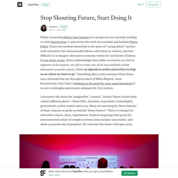 Stop Shouting Future, Start Doing It - Superflux - Medium