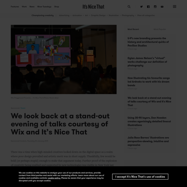 We look back at a stand-out evening of talks courtesy of Wix and It's Nice That