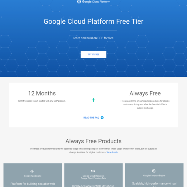GCP Free Tier - Free Extended Trials and Always Free | Google Cloud