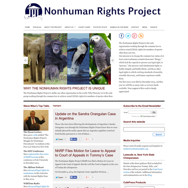 The Nonhuman Rights Project
