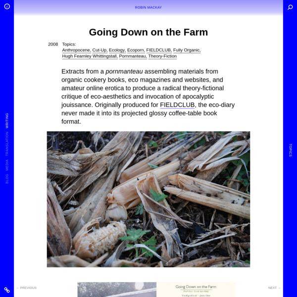 Going Down on the Farm - Robin Mackay