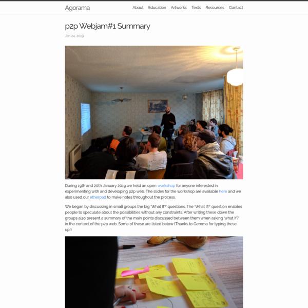 p2p Webjam#1 Summary