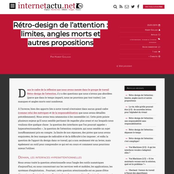 Rétro-design de l'attention : limites, angles morts et autres propositions