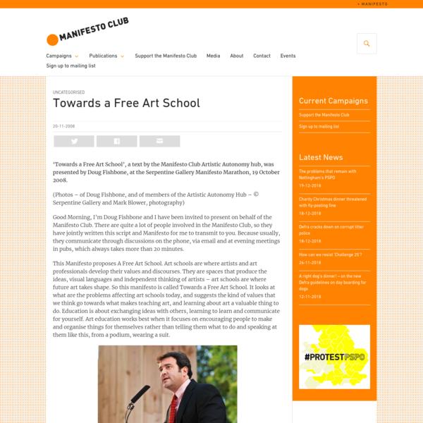 Towards a Free Art School