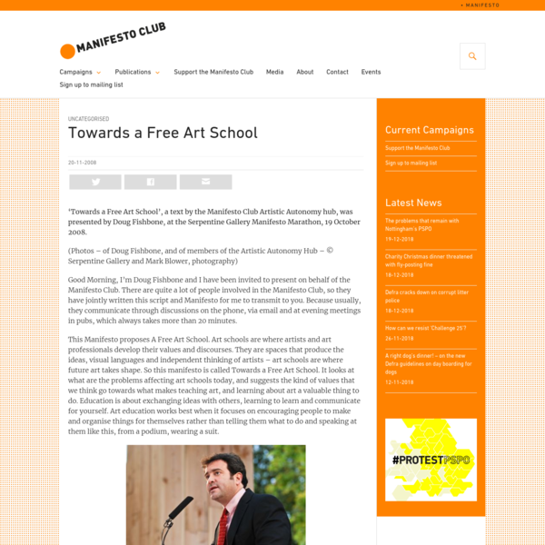 Towards a Free Art School