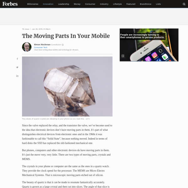The Moving Parts In Your Mobile