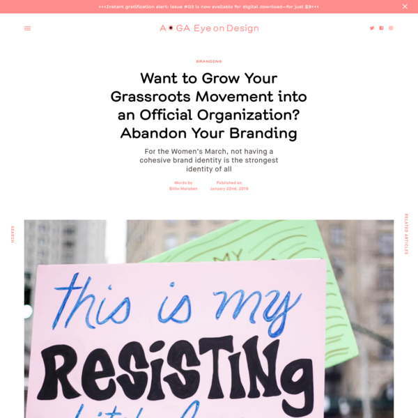 Want to Grow Your Grassroots Movement into an Official Organization? Abandon Your Branding | | Eye on Design