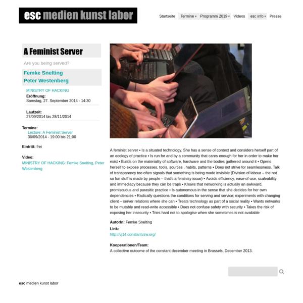 A Feminist Server | esc medien kunst labor