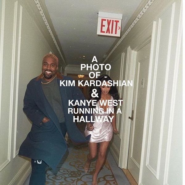 "988 Likes, 16 Comments - ian woods (@ianwoods__) on Instagram: ""a photo of kim kardashian & kanye west running in a hallway"""