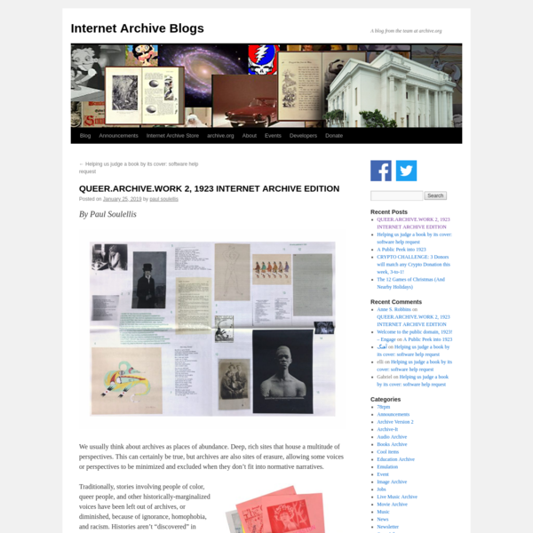 QUEER.ARCHIVE.WORK 2, 1923 INTERNET ARCHIVE EDITION