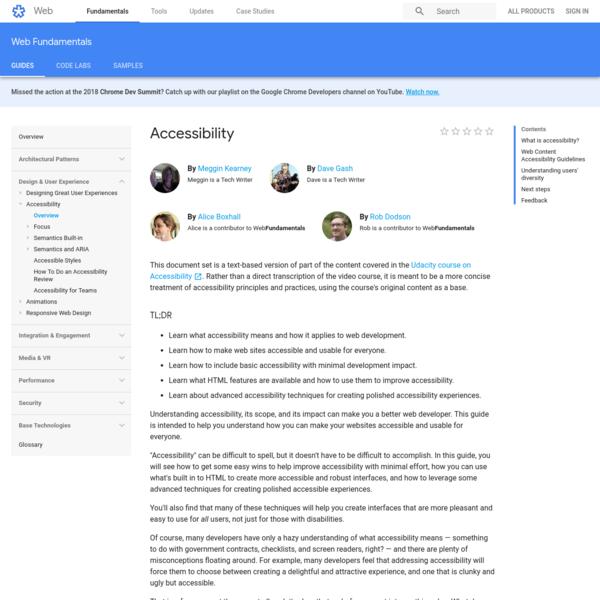 Accessibility   Web Fundamentals   Google Developers