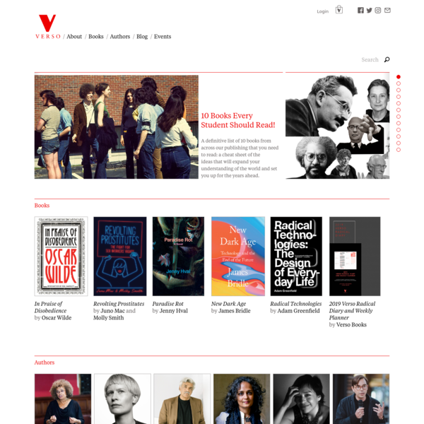 Verso Books is the largest independent, radical publishing house in the English-speaking world.