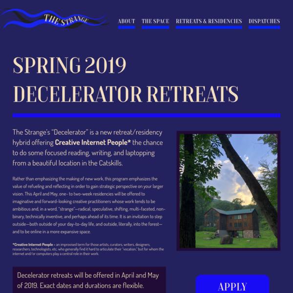 Spring 2019 Decelerator Program - The Strange Foundation