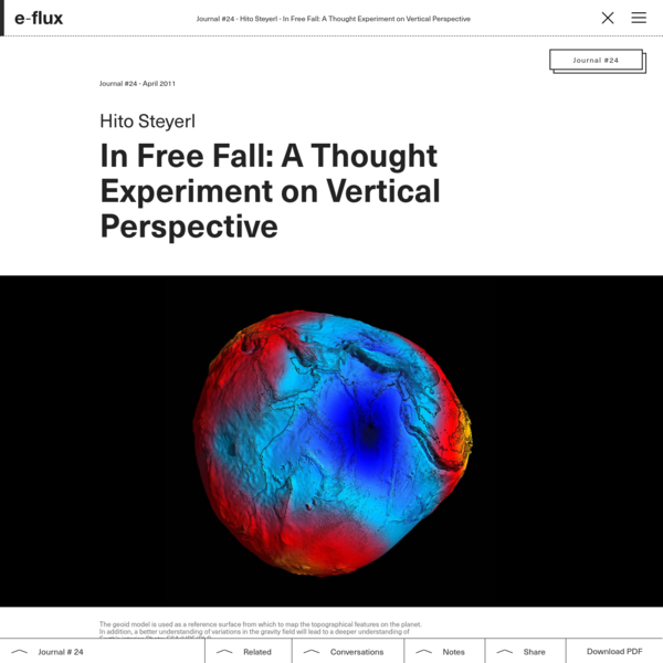 In Free Fall: A Thought Experiment on Vertical Perspective