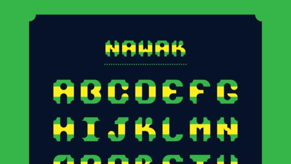 Pure CSS font #4 - Nawak
