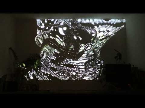 psychedelic realtime 3d visuals with vvvv + Resolume