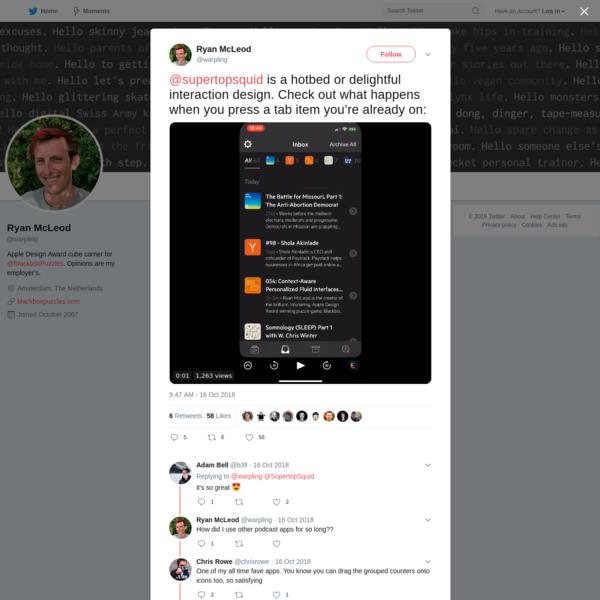 Ryan McLeod on Twitter