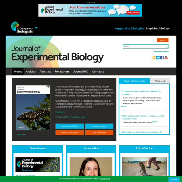 Home   Journal of Experimental Biology
