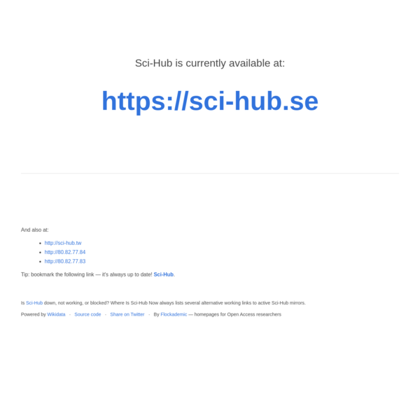 Where is Sci-Hub now?