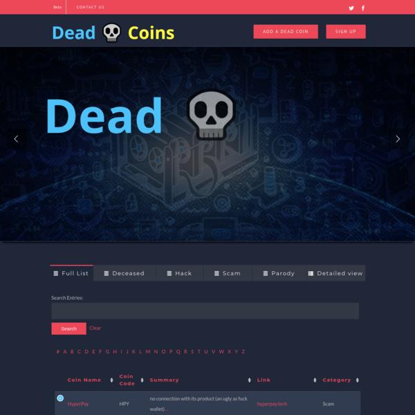 Dead Coins