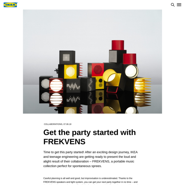 Get the party started with FREKVENS - IKEA Today