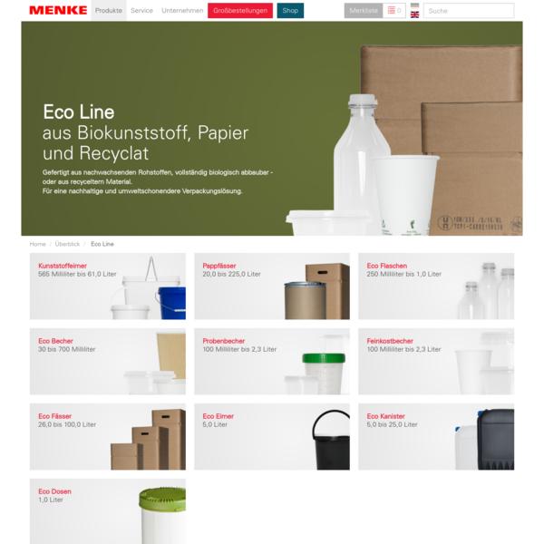 Eco Line aus Biokunststoff, Papier und Recyclat