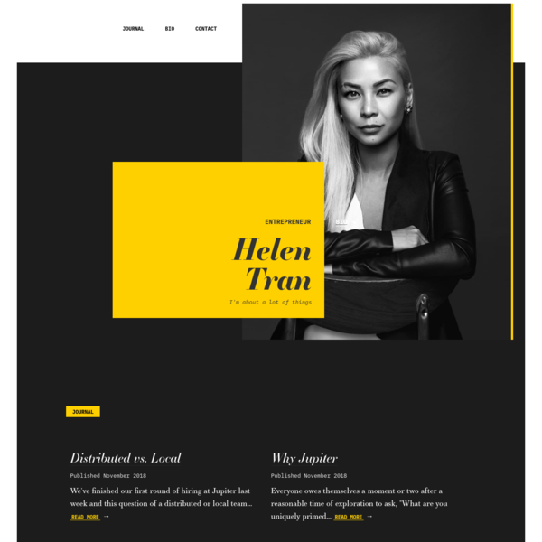 Helen Tran; Entrepreneur