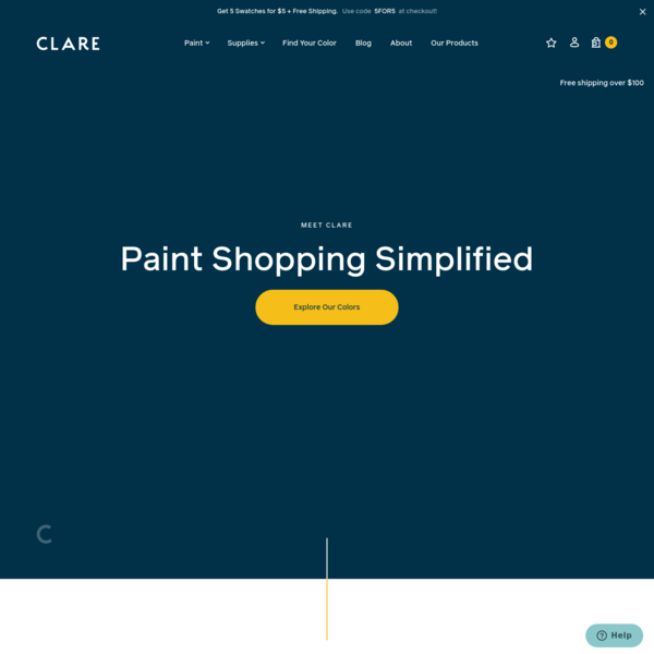Paint Shopping Simplified | Interior Paint & Supplies | Clare