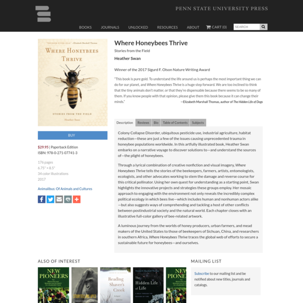 Where Honeybees Thrive: Stories from the Field By Heather Swan