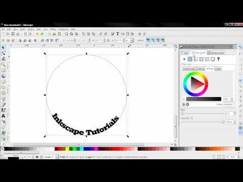 How to Put Text on Path (Tips and Tricks) - Inkscape Tutorial