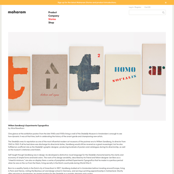 Maharam Stories - Willem Sandberg's Experimenta Typografica by Alice Rawsthorn