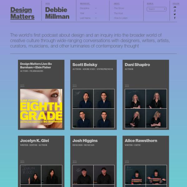 Debbie Millman | Design Matters