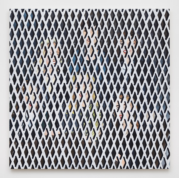 Becky Kolsrud, Group Portrait with Security Gate, 2015