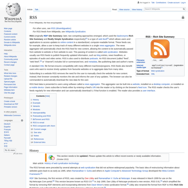 RSS - Wikipedia
