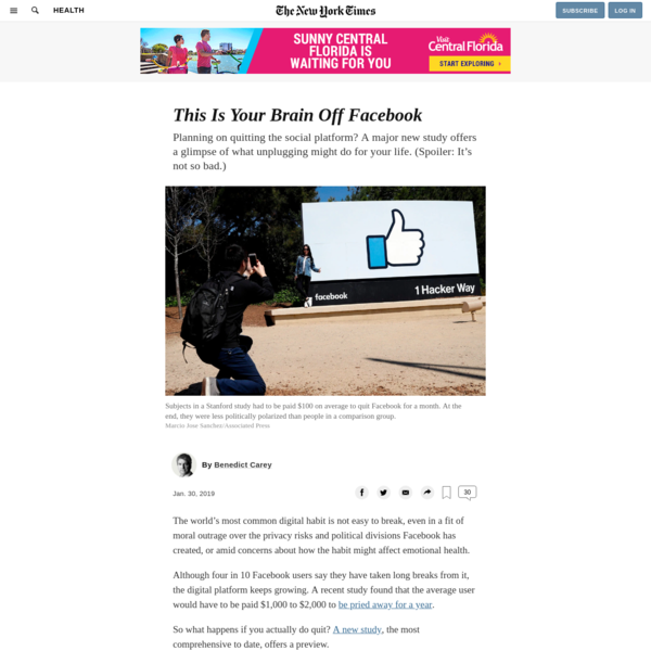 This Is Your Brain Off Facebook