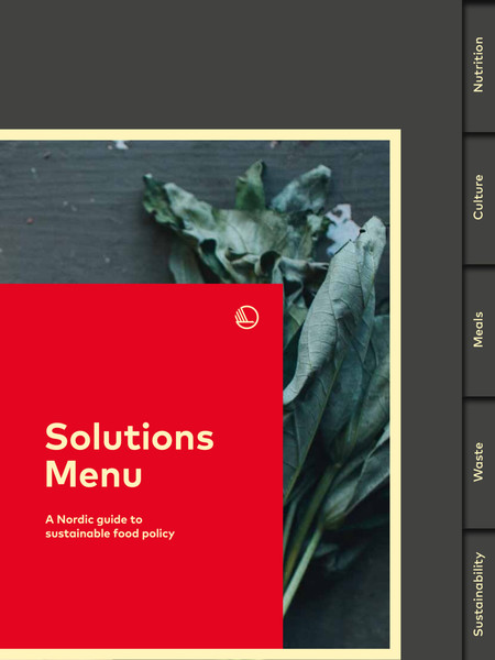 Solutions Menu A Nordic Guide to Sustainable Food Policy