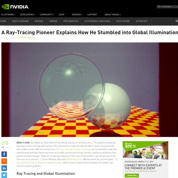 Ray-Tracing Pioneer Explains How He Stumbled into Global Illumination | NVIDIA Blog