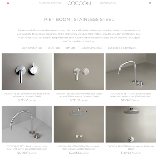 PIET BOON | Stainless steel Archives - Bycocoon