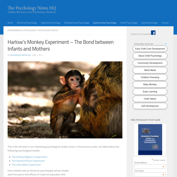 Harlow's Monkey Experiment
