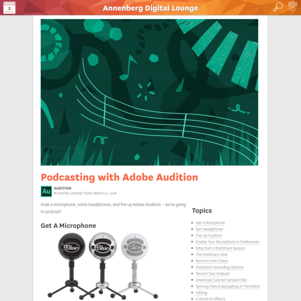 Podcasting with Adobe Audition