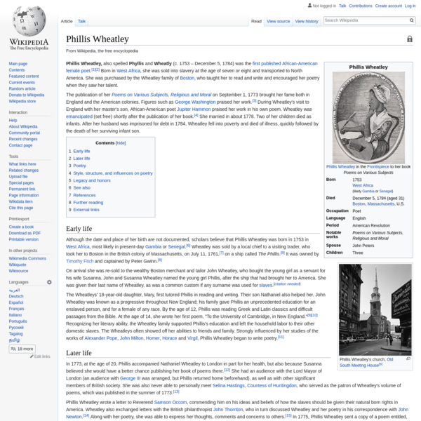 Phillis Wheatley - Wikipedia