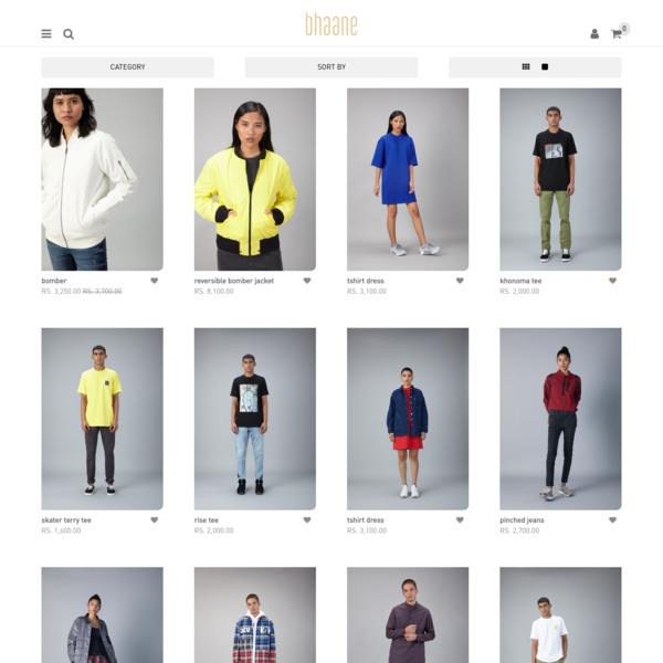 Shop Online - Contemporary Clothing For Men & Women | bhaane