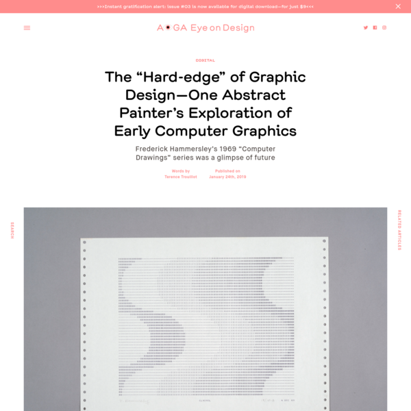 "The ""Hard-edge"" of Graphic Design-One Abstract Painter's Exploration of Early Computer Graphics"