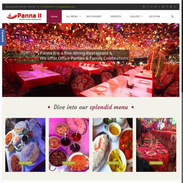Home - Panna II Garden Indian Restaurant