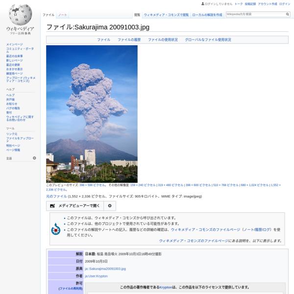 ファイル:Sakurajima 20091003.jpg - Wikipedia